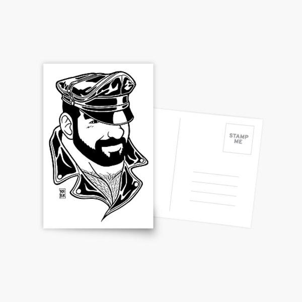 ADAM LIKES LEATHER - LINEART Postcard