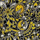 Yellow Floral Pattern by Phaedrus Byskou