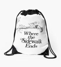 Where the Sidewalk Ends inspired artwork Drawstring Bag