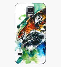 Orange Mad Tiger Watercolor Case/Skin for Samsung Galaxy