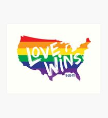 Love Wins Commemorative Art Art Print
