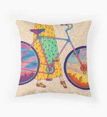 Bike tour Throw Pillow