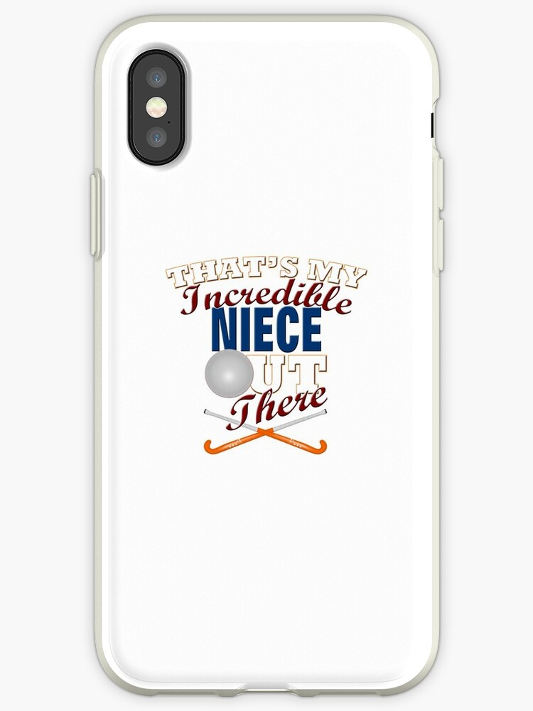 Field Hockey Niece Aunt Uncle Gift Iphone Case By Curious Graphix