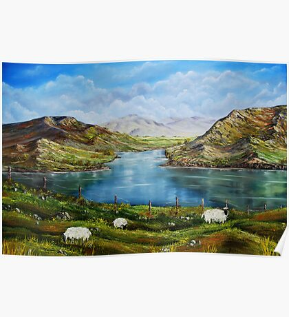 """Connemara Spring, Ireland"" - oil painting Poster"