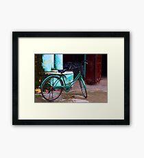 classic bike - on the streets of Hoi Ann Framed Print