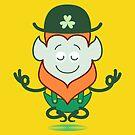 Saint Patrick's Day Leprechaun performing a deep meditation by Zoo-co