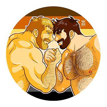 ADAM AND MIKE LIKE ARM WRESTLING BEAR PRIDE - CIRCLE by bobobear