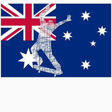 Australian Flag Skater  by eliot292