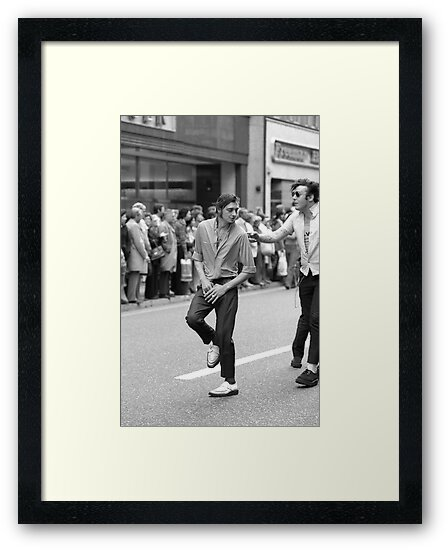 Dancing in the streets, 1976 by David Fowler