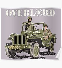 D-DAY Operation Overlord, Rough Rider Jeep T-Shirt Poster