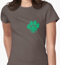 Fauna & Flora -  Earth Lover Green Paw Women's Fitted T-Shirt