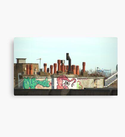 Rooftop Graffiti Canvas Print