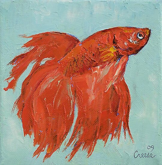 Siamese Fighting Fish by Michael Creese
