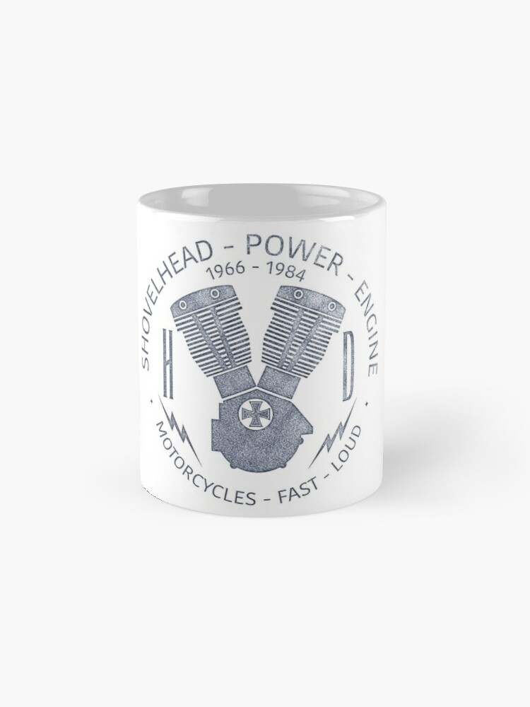 Alternative Ansicht von Harley Davidson Shovelhead Power 1966 - 1984 Tasse