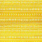Yellow Boho Stripes Pattern by blueskywhimsy