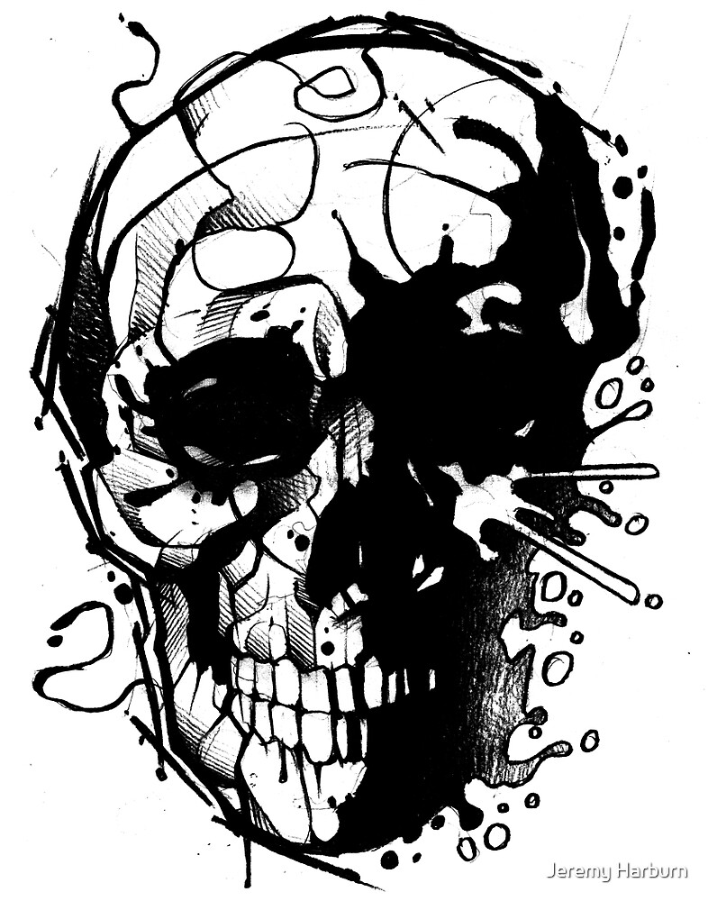 Splatter Skull by Jeremy Harburn