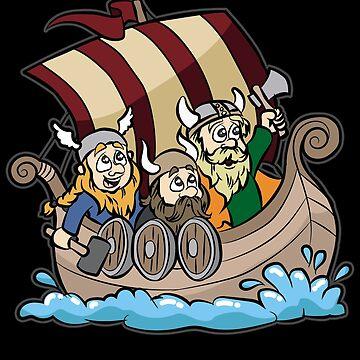 VIKINGS ON VIKING BOAT Longship Brute Berserk by Moonpie90