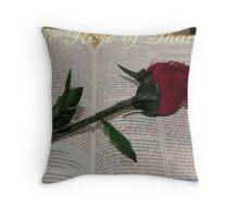 Rose of Sharon. Throw Pillow