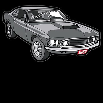 1969 Boss 429 Mustang Oldtimer Youngtimer Gift by Moonpie90