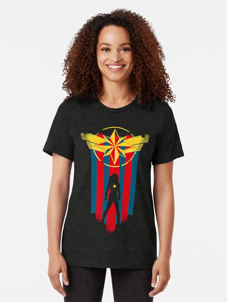 Alternate view of A Real Heroine Tri-blend T-Shirt