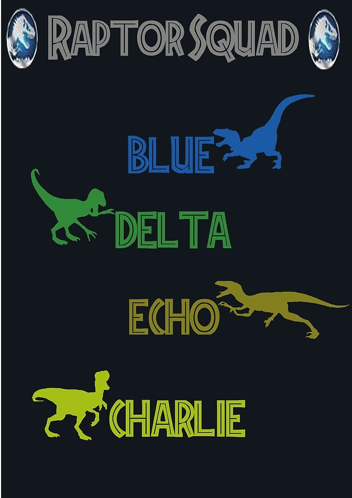 Jurassic World- Raptor Squad by H-C-D
