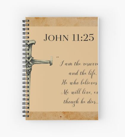 Resurrection and Life Spiral Notebook