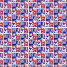 Tile window red white blue abstract by soitwouldseem