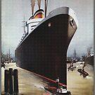 Hamburg, Germany's largest Harbor...HAPAG Ad by edsimoneit