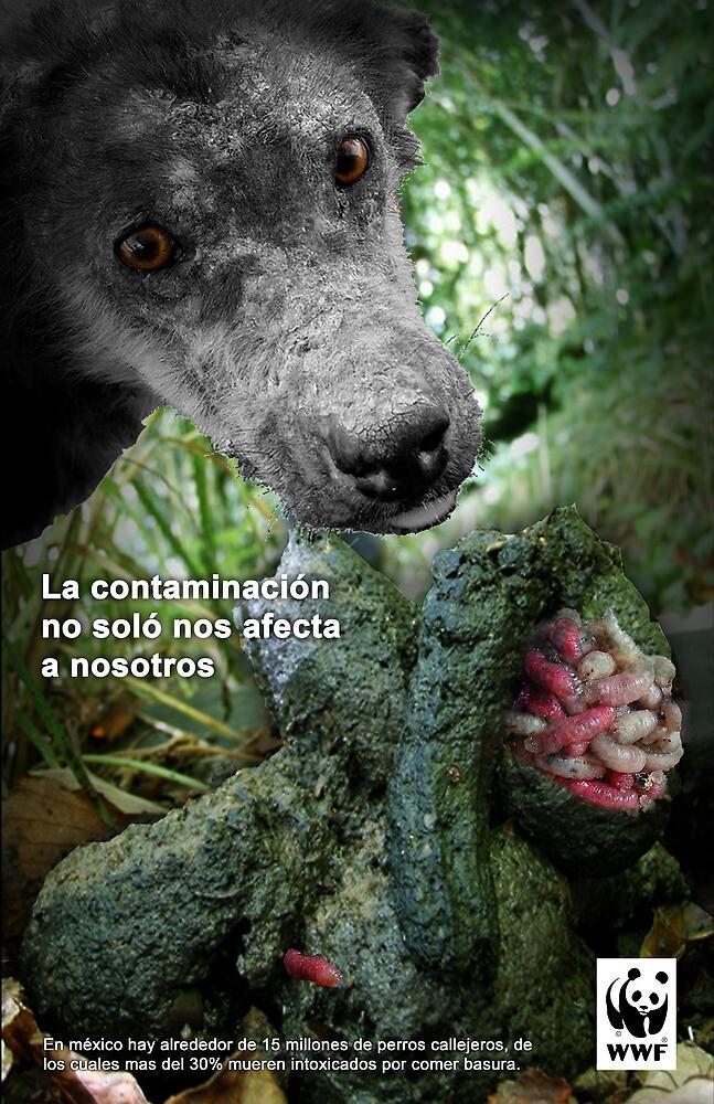 cartel contaminación by bamTristan