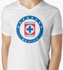 Cruz Azul Logo T-Shirt Men's V-Neck T-Shirt