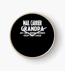 Gifts For Mail Carrier's Grandpa Clock
