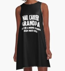 Gifts For Mail Carrier's Grandpa A-Line Dress