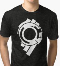 Section 9 (white print) Tri-blend T-Shirt