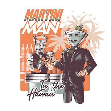 Hombre martini de ilustrata