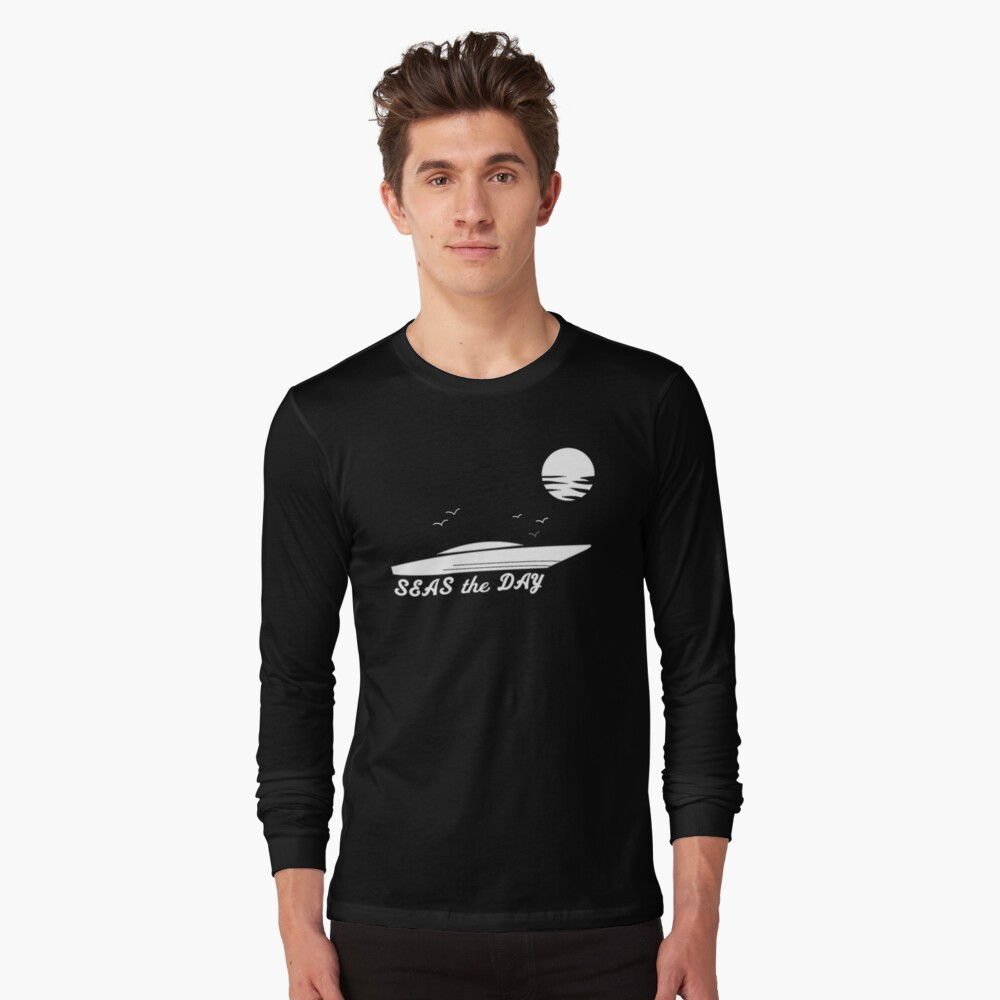 Seas the Day, Ocean Scene, Maxx Exchange. Long Sleeve T-Shirt Front