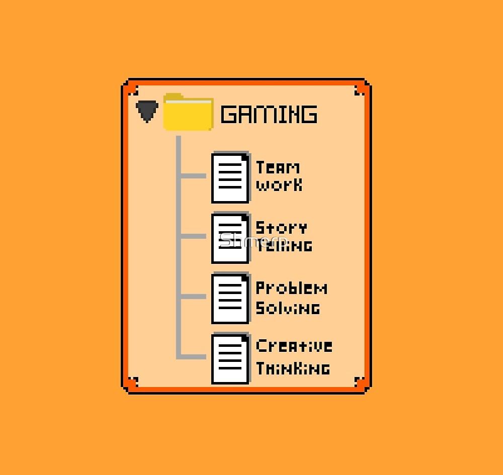 Orange Gaming Folder by Shmerp