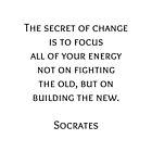 Das Geheimnis des Wandels - Sokrates-Philosophie der griechischen Philosophie von IdeasForArtists
