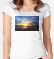 Guitar Sunset - Guitars by Sharon Cummings Women's Fitted Scoop T-Shirt