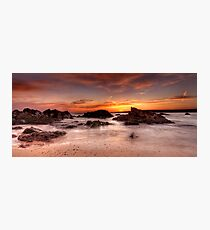 Sunset At Freshwater West Photographic Print