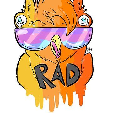 Rad Owl by cheshiebear