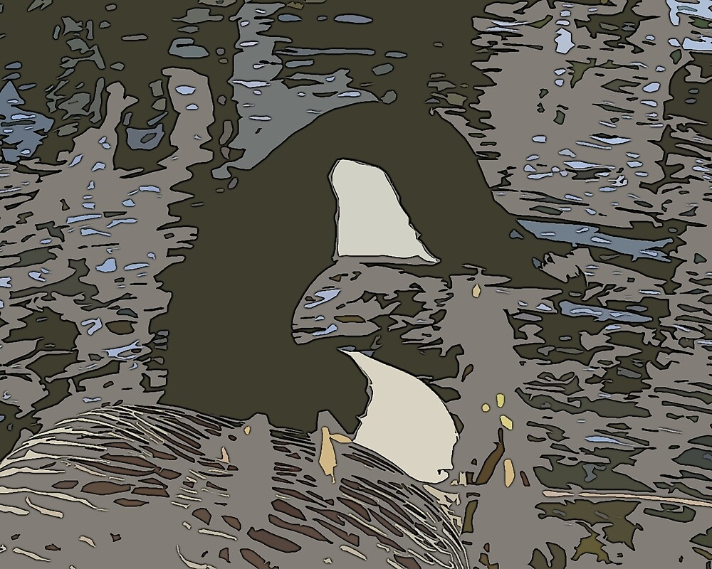 Abstract Camouflaged Style Canadian Goose by VirginiaGal