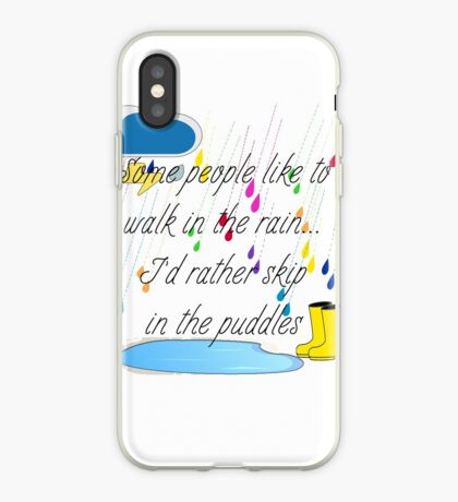 Skip in the Puddles iPhone Case