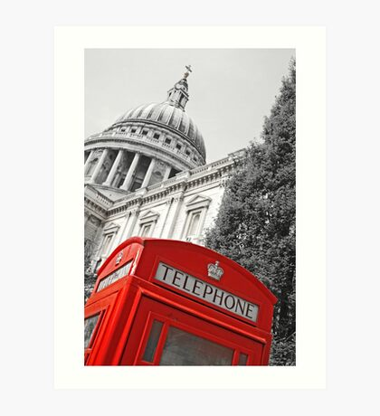 London phone box Art Print