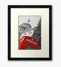 London phone box Framed Print