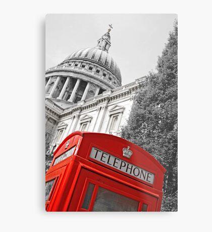 London phone box Metal Print