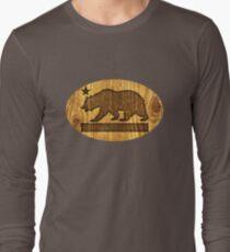 California Bear Wood Design T-Shirt