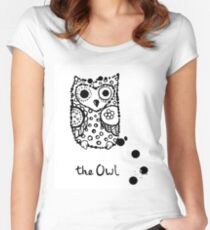 Funny sleeping crazy owl Women's Fitted Scoop T-Shirt