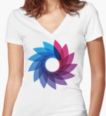 Bisexual Pride Abstract Women's Fitted V-Neck T-Shirt