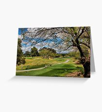 Golf Course View Greeting Card