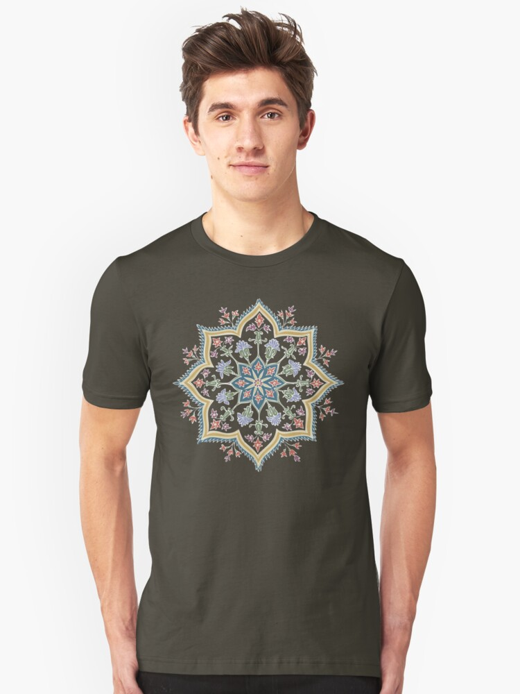 Intricate Flower Star Unisex T-Shirt Front